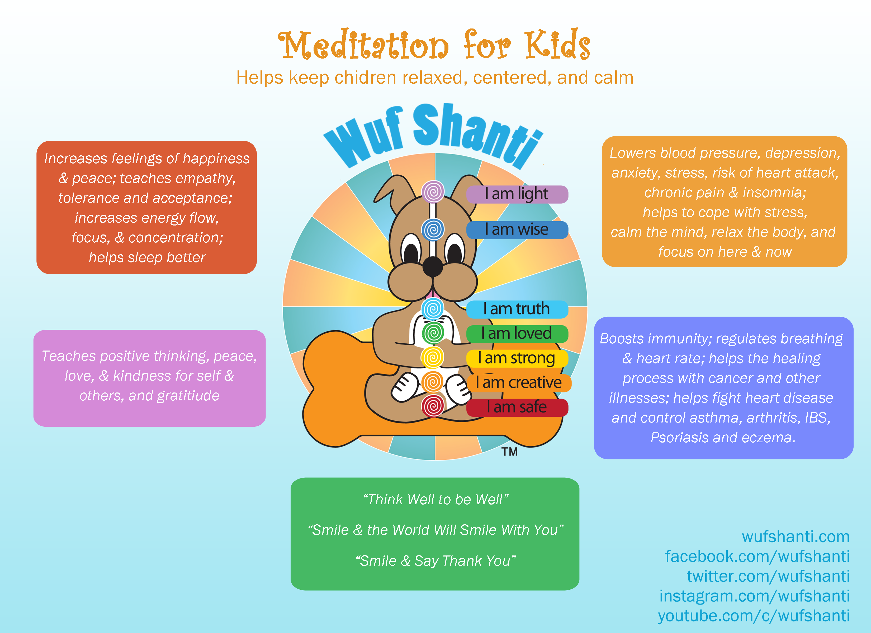 Benefits Of Various Poses Meditations And Mantras Can Also Be Found In Our Coffee Table Style Book For Kids Living Light With Wuf Shanti A