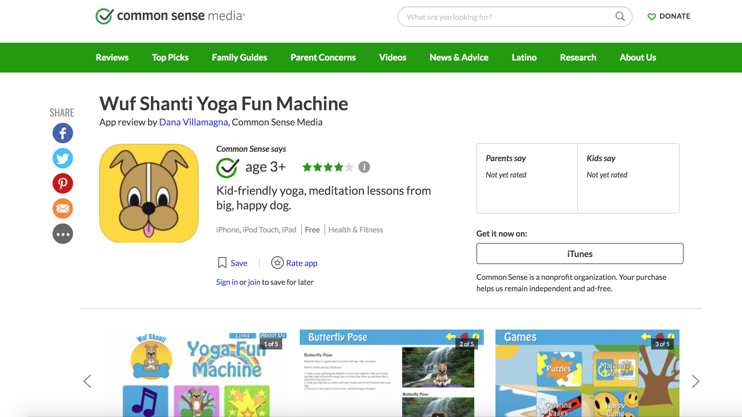 Common Sense Media Names Wuf Shanti Mobile App In Best Health Apps And Games For Kids